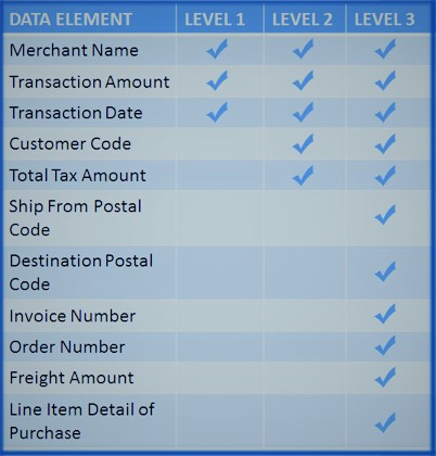 Level 3 Transaction Data